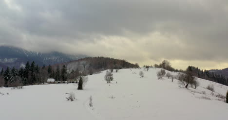 Forest-Covered-With-Snow-Aerial-View-Aerial-View-Of-Village-In-Mountains-1