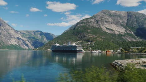 Ride-Along-The-Picturesque-Coast-Of-The-Fjord-Where-The-Ocean-Liner-Is-Moored