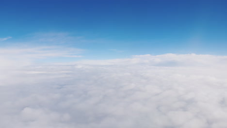 View-From-The-Window-Of-The-Plane-At-The-Clouds---Fly-Among-The-Clouds