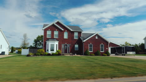 Ride-Along-Typical-American-Suburbs---Well-Groomed-Lawns-And-Houses