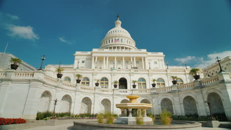 Capitol-Building-In-Washington-Dc-Wide-Angle-Shooting-4k-Video