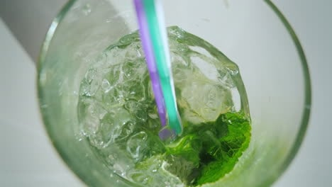To-Drink-A-Cool-Cocktail-Mojito-A-First-Person-View-Pov-Video
