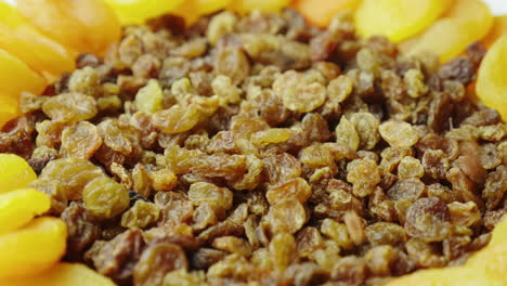 Dried-Apricots-And-Raisins-Ingredients-Of-Festive-Dishes-Dishes-For-Easter-4K-Video