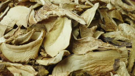 Dried-White-Mushrooms-Close-Up-Shot