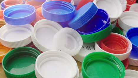 Many-Plastic-Bottle-Caps-Recyclable-And-Recyclable-Plastic-Waste-Concept