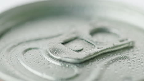 The-Lid-Of-The-Aluminum-Can-From-The-Carbonated-Drink-Is-Covered-With-Droplets-Of-Condensate-Cool-Dr