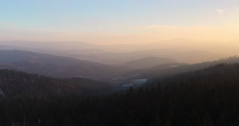 Aerial-View-Of-Woods-And-Mountains-In-Winter-5