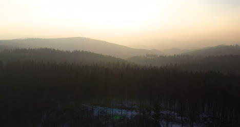 Aerial-View-Of-Woods-And-Mountains-In-Winter-6