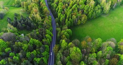 Car-Passing-Highway-Aerial-View-2