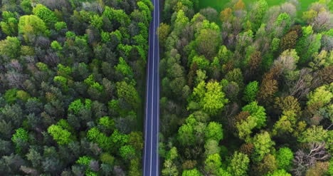 Car-Passing-Highway-Aerial-View-3