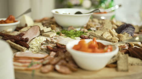 Table-Full-Of-Meat-At-The-Wedding-