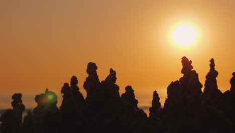 The-Sun-Goes-Over-The-Towers-Of-The-Sand-Castle-Mirage-And-Fluctuation-Concept-4K-Video