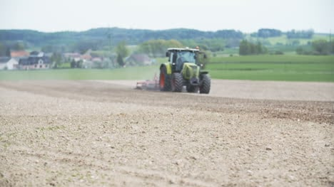 Agricultural-Tractor-Cultivates-Field
