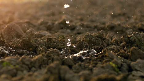 Waterdrops-Falling-On-Soil-Earth-At-Farm-2