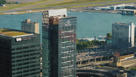 View-Of-Skyscrapers-And-The-Airport-On-The-Island-Downtown-Toronto