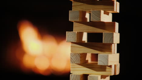 Tower-Of-Wooden-Blocks-Collapses-Slow-Video