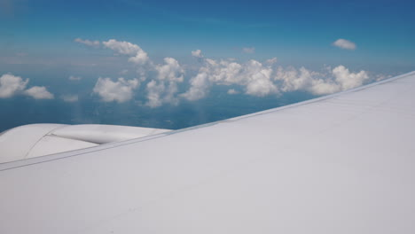 View-From-The-Plane-Window-On-The-Wing-And-The-Powerful-Jet-Engine