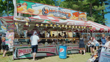 Large-Tent-With-Fast-Food-At-The-Fair