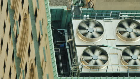 Big-Fans-On-High-Rise-Surrender-Air-Conditioning-System-Work