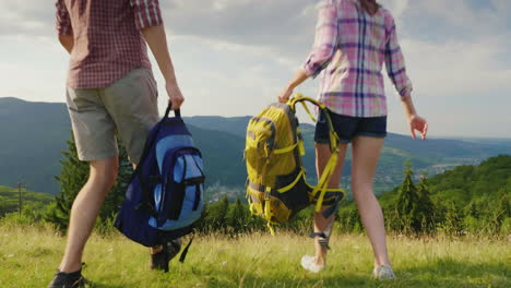 Summer-Holidays-In-The-Mountains-A-Young-Couple-Is-Happy-To-Come-To-A-Picturesque-Place