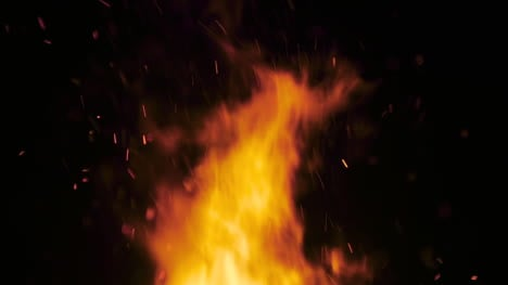 Big-Bonfire-Burning-Fire-Against-Black-Background-4