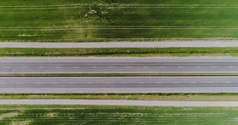 Car-Passing-Highway-Aerial-View-7