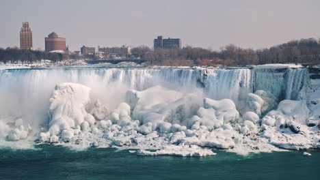 American-Side-Of-Niagara-Falls-In-Winter-4K-Video