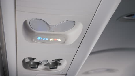 Individual-Passenger-Panel-On-The-Plane-With-The-Wi-Fi-Logo