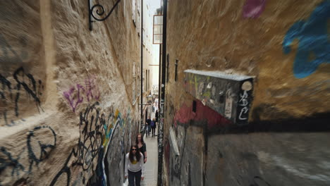 Morten-Trotzig-s-Lane-Is-The-Narrowest-Street-In-Stockholm-Its-Width-Is-Only-90-Centimeters-Tourists