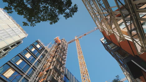 The-Building-Is-Surrounded-By-Glass-Office-Buildings-Building-And-Reconstruction-In-The-Downtown-Of-