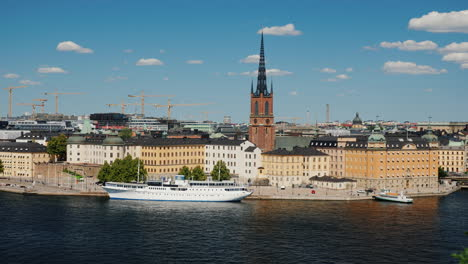 Beautiful-View-On-The-City-Of-Stockholm---The-Capital-Of-Sweden-4k-Video