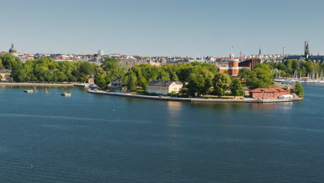 View-Of-The-Island-Djurgarden-In-Stockholm-Where-The-Famous-Lunapark-Grona-Lund-Is-Located