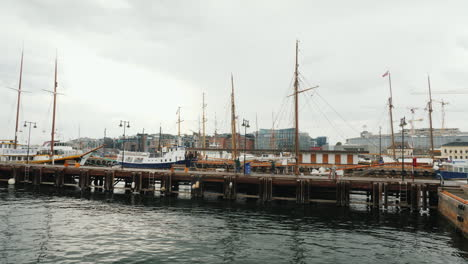 A-Pier-With-Many-Yachts-In-The-City-Of-Oslo