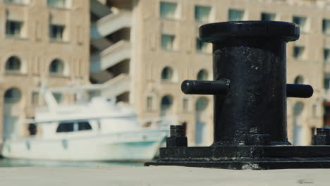 A-Bollard-Is-A-Short-Vertical-Post-In-The-Background-You-Can-See-Yachts