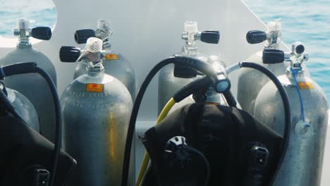 Cylinders-With-Compressed-Air-For-Diving