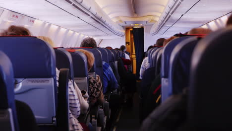 Inside-The-Passenger-Compartment-In-An-Airliner