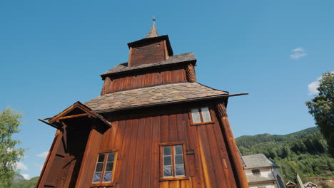 Ancient-Wooden-Church-Of-The-13th-Century-In-The-Town-Of-Torpo-Norway-An-Amazing-Old-Building-Perfec