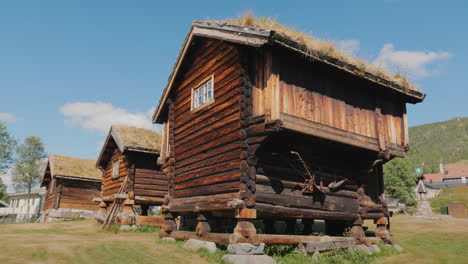 Several-Ancient-Traditional-Norwegian-Houses-4k-Video