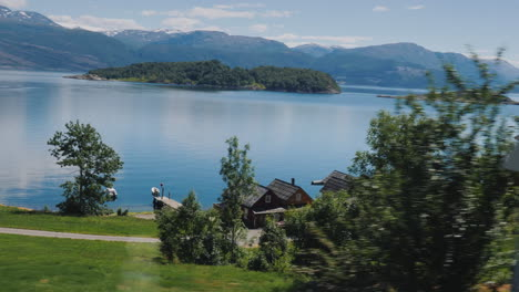 The-Majestic-Fjords-Of-Norway-The-View-From-The-Car-Window-4k-Video
