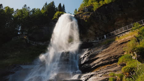 The-Majestic-Steinsdalsfossen-Is-A-Waterfall-Located-2-Kilometers-From-The-Town-Of-Nurheimsund-In-Th