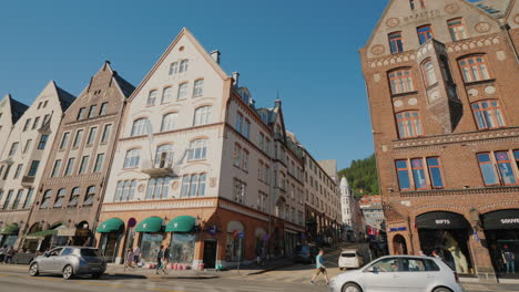 Popular-With-Tourists-Street-With-Colorful-Wooden-Houses