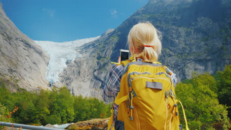 The-Tourist-Photographs-The-Famous-Briksdal-Glacier-In-Norway-Journey-Through-The-Nordic-Countries-C