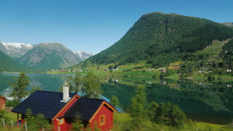 View-Of-The-Beautiful-Rural-Landscape-In-Scandinavia-Filmed-From-A-Car-Window-4k-Video