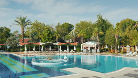 Luxury-Hotel-With-Swimming-Pool-In-Turkey-Loungers-A-Cozy-Cafe---All-For-A-Comfortable-Stay