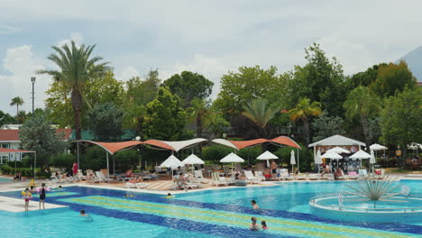 Large-Swimming-Pool-And-Leisure-Infrastructure-In-A-Turkish-Hotel