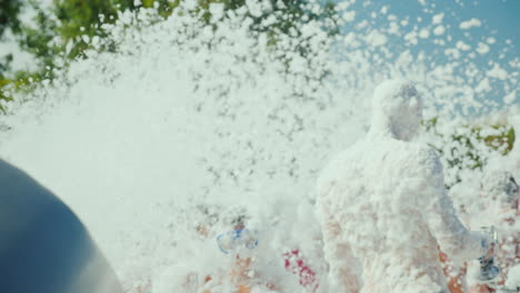 The-Cannon-Throws-Out-The-Streams-Of-Foam-On-The-People-Who-Are-Having-Fun-On-The-Beach-Foam-Beach-P