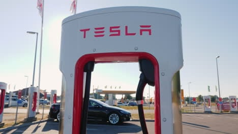 Branded-Charging-Station-For-Electric-Vehicles-Tesla