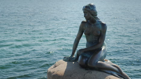 The-Famous-Staunch-Of-The-Little-Mermaid-In-The-Harbor-Of-Copenhagen-One-Of-The-Characters-Of-Hans-C