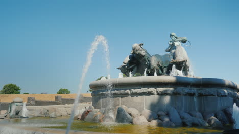 Gefion-Fountain---A-Fountain-Near-The-Harbor-In-Copenhagen-The-Sculptural-Composition-Of-The-Fountai