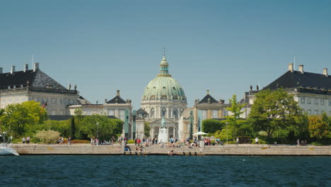 View-From-The-Sea-To-The-Frederik-Church-Also-Known-As-The-Marble-Church-Is-One-Of-The-Popular-Attra